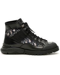 Dior Oblique Combat Boots - Black