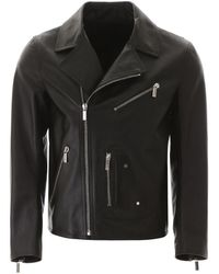 Dior Leather Biker Jacket - Black