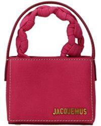 Jacquemus Handbags Women Suede Pink