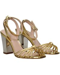 Giuseppe Zanotti Sandals Leather - Metallic