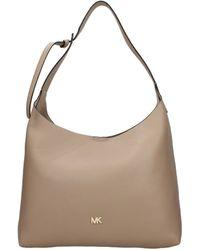 Michael Kors Beige Shoulder Bags Junie Md Hobo - Natural