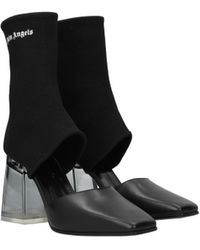 Palm Angels Black Ankle Boots