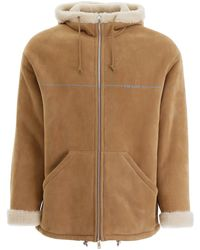 Prada Shearling Coat - Natural