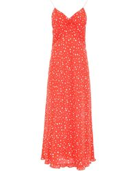 Miu Miu Star Print Dress - Red