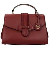 Michael Kors Handbags Satchel Md Women Red