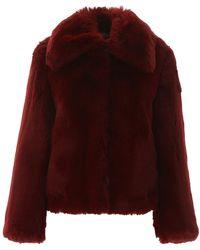 Sies Marjan Felice Burgundy Faux Fur Jacket - Red