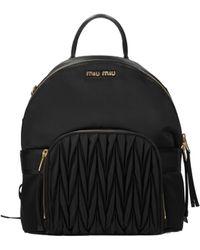 Miu Miu Black Backpacks And Bumbags