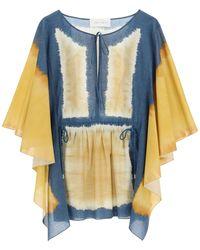 Alberta Ferretti I Love Summer Tie-dye Caftan Dress - Blue