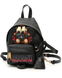 """Moschino """" Bat Teddy Bear Mini Backpack"""" - Black"""
