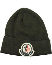 Moncler Hats Virgin Wool Military - Green