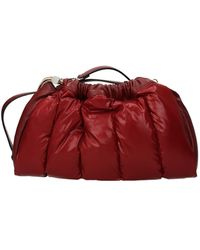Moncler Crossbody Bag Seashell Fabric Dark - Red