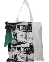 CALVIN KLEIN 205W39NYC Shoulder Bags Andy Warhol Women White - Multicolour