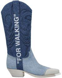 Off-White c/o Virgil Abloh Blue Boots
