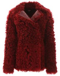 Sies Marjan Pippa Reversible Shearling Coat - Red