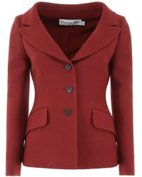 Dior Single-breasted Jacket - Red
