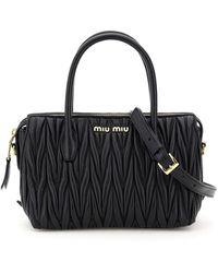 Miu Miu Matelassé Tote Bag - Black
