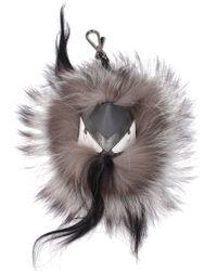 Fendi Bag Bugs Bag Charm - Grey