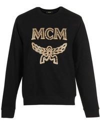 MCM - Metallic-trimmed Logo Sweatshirt - Lyst