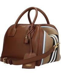 Burberry Handbags Woman Brown