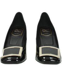 Roger Vivier Court Shoes Patent Leather - Black