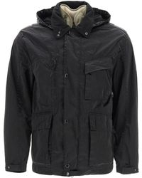 C.P. Company Cp Company Hooded Coat - Black