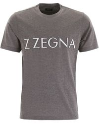 Z Zegna Logo T-shirt - Gray