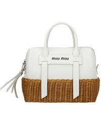 Miu Miu Handbags Leather - White
