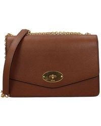 Mulberry Crossbody Bag Darley Leather - Brown