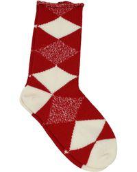 Burberry - Socks Men Red - Lyst