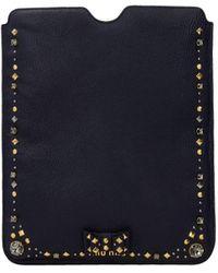 Miu Miu Ipad Cover Leather - Blue