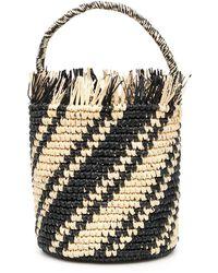 Sensi Studio Striped Bucket Bag - Multicolor
