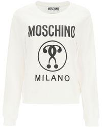Moschino Milano Logo Print Sweatshirt 38 Cotton - Black