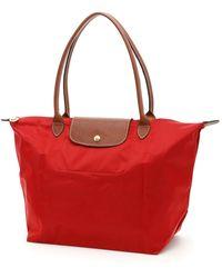 Longchamp Large Le Pliage Shopping Bag - Red