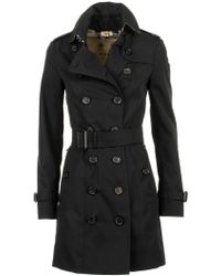 Burberry The Sandringham – Mid-length Trench Coat - Black
