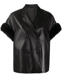 Ermanno Scervino Orchid Short-sleeved Jacket - Black