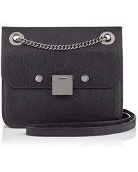 ee72f6154163 Chanel Woven Raffia Chain Shoulder Bag in Black - Lyst
