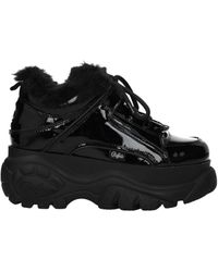 Buffalo Sneakers Patent Leather - Black