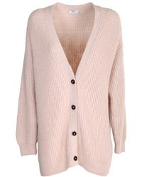 Closed Short Cardigan Made Of Alpaca - Pink