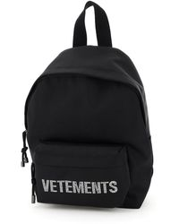 Vetements Rhinestone Logo Small Backpack - Black