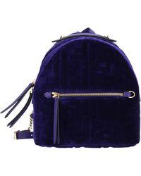 Fendi Violet Backpacks And Bumbags - Purple