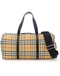 Burberry Large Kennedy Duffle Bag - Multicolor