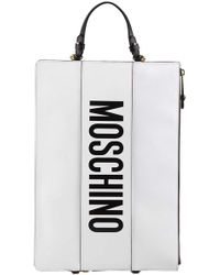 Moschino - Convertible Logo Clutch Backpack - Lyst