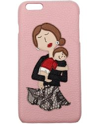 Dolce & Gabbana - Iphone Cover Women Pink - Lyst