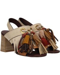 See By Chloé Beige Sandals - Multicolor