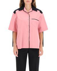 Prada Poplin Fringe Shirt - Pink