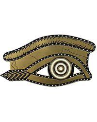 Givenchy Gift Ideas Egyptian Eye Brooch Brass - Metallic