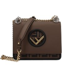 Fendi Crossbody Bag Kan Women Brown