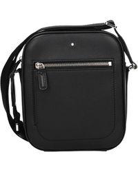 Montblanc Crossbody Bag Leather - Black