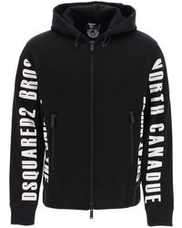 DSquared² Logo Hooded Jacket - Black