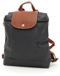 Longchamp Nylon And Leather Le Pliage Backpack - Black